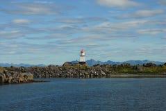 Lighthous στα νησιά Lofoten Στοκ Εικόνες