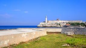Lighthouse卡斯蒂略del Morro,哈瓦那 免版税库存照片