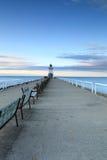 Lighthouse湖长凳 免版税图库摄影