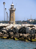 Lighthouse. A lighthouse in Garda Lake, Italy Royalty Free Stock Photography