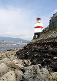 Lighthouse. Overlooking the seawall at Stanley Park in Vancouver, British Columbia, Canada Royalty Free Stock Photos