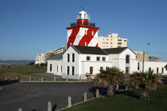 Lighthouse. The Mouille point lighthouse at Cape Town the oldest lighthouse in South Africa. Build in 1824 Royalty Free Stock Photography