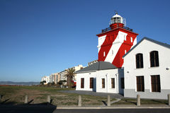 Lighthouse. The Mouille point lighthouse at Cape Town the oldest lighthouse in South Africa. Build in 1824 Stock Images