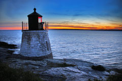 Lighthouse. Castle Hill Lighthouse in Newport Rhode Island Stock Photography