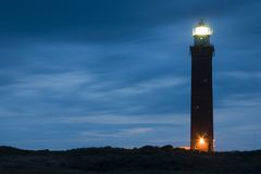 Lighthouse. Tower in the night Royalty Free Stock Photo