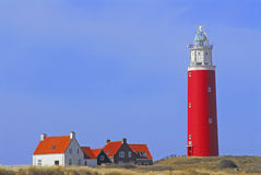 Lighthouse. At De cocksdorp, Texel, Holland Royalty Free Stock Image