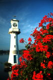 Lighthouse. Light house at the lake stock photo