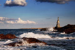 Lighthouse. The old lighthouse  of Ahtopol ,Bulgaria Royalty Free Stock Photos