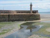 Lighthouse. On the coast of France with the Atlantic Ocean in the background Stock Photography