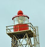 Lighthouse. Makeshift lighthouse on the Morgan\\\'s Bay coast Royalty Free Stock Images