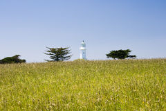 Lighthouse. Oldest lighthouse in New Zealand. Tiri Tiri Matangi Island, New Zealand stock photo