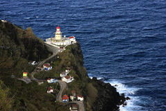 Lighthouse. Ancient Portuguese lighthouse in St. Miguel island, Azores, Portugal Stock Photography