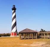 Lighthouse. Cape Hatteras Lighthouse in Cape Hatteras, North Carolina, USA, with public buildings for visitors Stock Photos