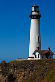Lighthouse. 115-foot Pigeon Point Lighthouse, one of the tallest lighthouses in America, has been guiding mariners since 1872 Royalty Free Stock Photos