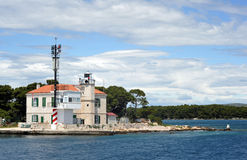 Lighthouse. Light House of Rt Jarija before Sibenik Stock Image