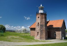A lighthouse. A small old lighthouse in Lithuania Stock Images