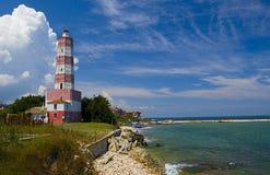 Lighthouse. On the coast of the sea stock photos