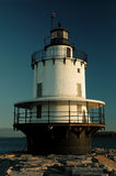 Lighthouse. In early morning, decorated for Christmas royalty free stock images