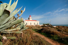 Lighthouse. On Ponte da Piedade in Portugal royalty free stock images