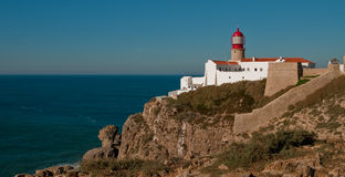 Lighthouse. On Cabo Sao Vicente, Portugal Stock Photo