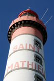Lighthouse. Saint-Mathieu (West-coast of Brittany in France Royalty Free Stock Photos