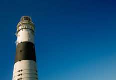 Lighthouse. Black and White Lighthouse in absolute clear Sky Stock Photography