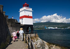 Lighthouse. Located in Stanley Park, Vancouver royalty free stock image