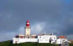 Lighthouse. Over cloudy sky, Portugal Stock Photo