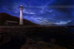 Lighthouse #2. The Slangkop Lighthouse at Kommetjie, Western Cape. Digital Artwork Royalty Free Stock Photography