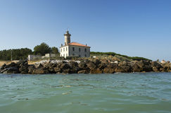 Lighthouse. Bibione (Ve),Veneto,Italy,Adriatic Sea,the lighthouse on the  beach at the mounth of the river Tagliamento Royalty Free Stock Photography