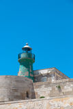 Lighthouse. In Maniace Castle fortification. Syracuse, Sicily, Italy royalty free stock image
