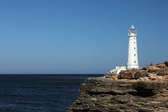 Lighthouse. Tarkhankut in the western part of Crimea, Ukraine Stock Images