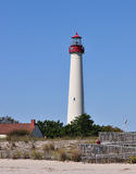 Lighthouse. In New Jersey at Cape May Royalty Free Stock Image