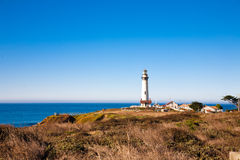 Lighthouse. Pigeon Point Lighthouse in Big Sur, California Stock Photo