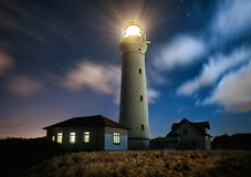 Lighthouse. Strong winds during the night at a lighthouse Royalty Free Stock Photo