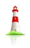 Lighthouse. Objects on white background Stock Photos