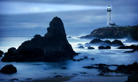 Lighthouse. At the California coast with light beam Royalty Free Stock Photos