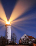 Lighthouse. A beautiful clear night with stars Stock Photo