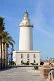 Lighthouse. In Malaga, Andalucia, Spain Stock Photography