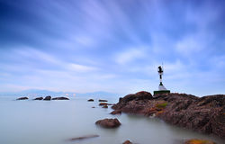 Lighthouse. The lighthouse on rocks of gulangyu morning Royalty Free Stock Photography
