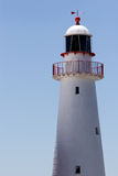 Lighthouse. Closeup of a white lighthouse Stock Image