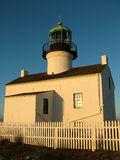 Lighthouse. Point Loma lighthouse at sunset, San Diego, California stock image
