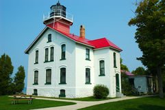 Lighthouse. Grand Traverse Lighthouse in Michigan, USA stock image