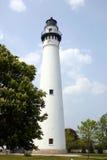 Lighthouse. 1880 lighthouse in Wind Point Kenosha Royalty Free Stock Image
