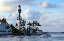 Lighthouse. The Historic Hillsboro Lighthouse in South Florida Royalty Free Stock Photos