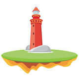 Lighthouse. Abstract illustration,lighthouse marine signal Stock Photos