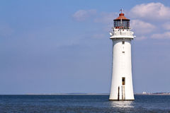 Lighthouse. At New Brighton with copy space Stock Photo