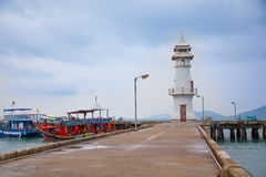 Lighthouse. The lighthouse at Bang-Bao fishing village Royalty Free Stock Photo