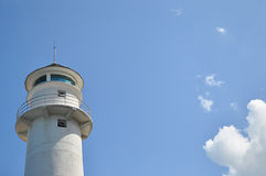 Lighthouse. Tower againt blue sky background Stock Images