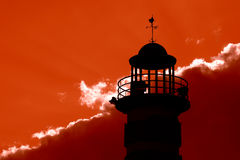 Lighthouse. At sunset Stock Photography